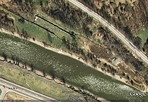 Google Earth view of Lock 60 remains