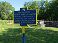 Historical marker at Enlarged Erie Canal Lock 60