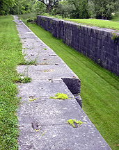 North chamber, Lock No. 60, topside, looking east