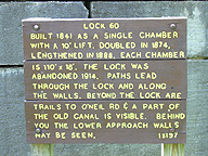 Lock No. 60 interpretive sign
