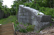 Erie Canal Lock No. 58 - North chamber, north wall, east end