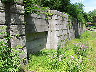 Erie Canal Lock No. 58 - North chamber, north wall, west end door recess