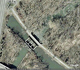 Google Earth view of the aqueduct