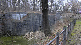 Erie Canal Lock No. 62 at Pittsford - north chamber, looking westward