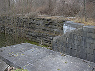 Erie Canal Lock No. 62 at Pittsford - eastern end of the north chamber