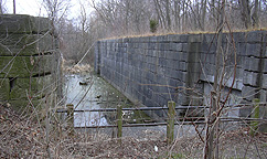 Erie Canal Lock No. 62 at Pittsford - north chamber, western end