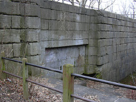 Erie Canal Lock No. 62 at Pittsford:  north chamber gate recess