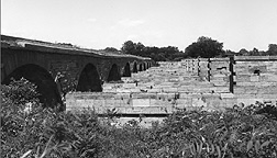 Schoharie Creek Aqueduct, looking east from the west bank of the creek