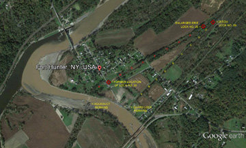 Aerial view of Fort Hunter, N.Y.