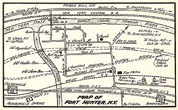 Map of Fort Hunter, N.Y.