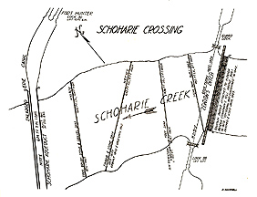 Map of dams on Schoharie Creek