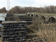 The Seneca River Aqueduct, eastern end, looking west