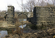 The Seneca River Aqueduct, eastern end, looking north