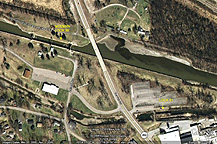 Google Earth view of Erie Canal Locks 30 and 61