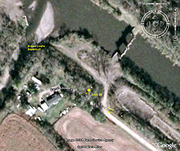 Enlarged Erie Canal Lock 35 - Google Earth view
