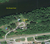 Google Earth view of Lock 40 and vicinity