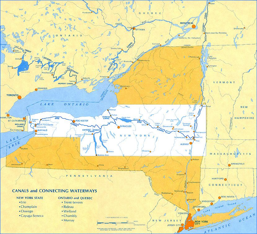 Erie Canal Map Erie Canal   Maps Erie Canal Map